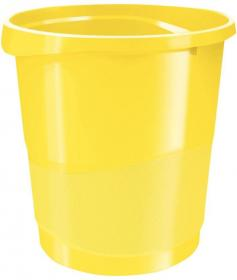 Kosz na śmieci Esselte Europost Vivida, 14l, żółty