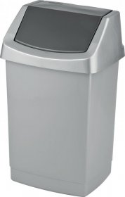 Kosz na śmieci Curver Click It, z pokrywą, plastikowy, 25l, szary