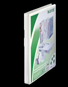 Segregator prezentacyjny Leitz A4+, szerokość grzbietu 30mm, do 100 kartek, 2 ringi, biały