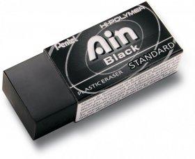 Gumka ołówkowa Pentel, Hi-Polymer Ain Black, 43.4x17.4x11.8mm, czarny