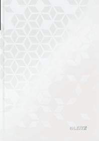Zeszyt w kratkę Leitz Wow, A5, twarda oprawa, 80 kartek, biały