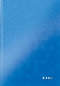 Zeszyt w kratkę Leitz Wow, A5, twarda oprawa, 80 kartek, niebieski