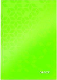 Zeszyt w kratkę Leitz Wow, A5, twarda oprawa, 80 kartek, zielony