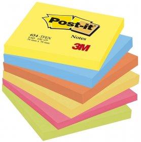 Notes samoprzylepny Post-it Paleta Energetyczna, 76x76mm, 6x100 karteczek, mix kolorów