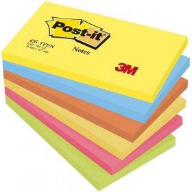 Notes samoprzylepny Post-it Paleta Energetyczna, 76x127mm, 6x100 karteczek, mix kolorów