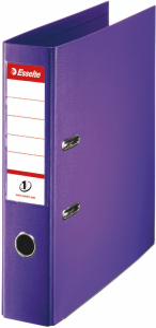 Segregator Esselte No.1 Power, A4, szerokość grzbietu 75mm, do 500 kartek, fioletowy