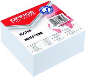 Kostka do notowania Office Products, klejona, 85x85x40mm, 400 kartek, biały