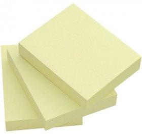 Notes samoprzylepny Q-Connect, 38x51mm, 3x100 karteczek, żółty pastelowy