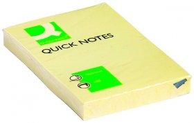 Notes samoprzylepny Q-Connect, 51x76mm, 100 karteczek, żółty pastelowy