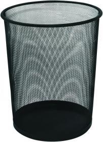 Kosz na śmieci Q-Connect, metalowy, 19l, czarny