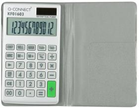 Kalkulator kieszonkowy w etui Q-Connect KF01603, 10 cyfr, srebrny