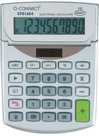 Kalkulator biurowy Q-connect KF01604, 10 cyfr, srebrny
