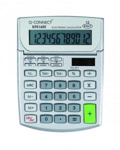 Kalkulator biurowy Q-Connect KF01605, 12 cyfr, srebrny