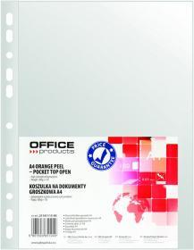 Koszulki groszkowe Office Product, A4, 30 µm, 100 sztuk, przezroczysty