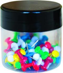 Pinezki beczułki Q-Connect, 60 sztuk, mix kolorów