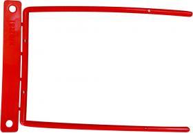 Klips archiwizacyjny Q-Connect D-Clip, 100mm, 1 sztuka, czerwony