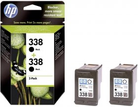 Tusz HP 338 (CB331EE), 2x11 ml, 2 sztuki, black (czarny)