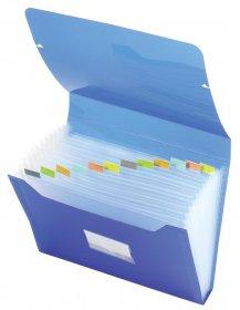 Teczka segregująca Office Depot, A4, 13 przekładek, niebieski