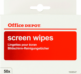 Chusteczki nawilżone do czyszczenia ekranu Office Depot, 50 sztuk
