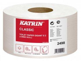Papier toaletowy Katrin Classic Gigant S2, 2-warstwy, 9.5cmx100m, 12 sztuk, biały