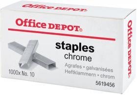 Zszywki Office Depot 10, 1000 sztuk, srebrny