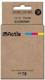 Tusz Actis KH-78 (C6578A), 47 ml, CMY cyan (błękitny), magenta (purpurowy), yellow (żółty)