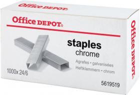 Zszywki Office Depot 24/6, 1000 sztuk, srebrny