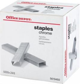 Zszywki Office Depot 24/6, 5000 sztuk, srebrny