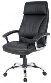 Fotel biurowy - gabinetowy Realspace To Go Prague, skóra, czarny
