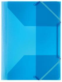 Teczka plastikowa z narożną gumką Office Depot, A4, 30mm, przezroczysty niebieski
