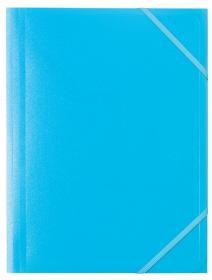 Teczka plastikowa z narożną gumką Office Depot, A4, 30mm, niebieski