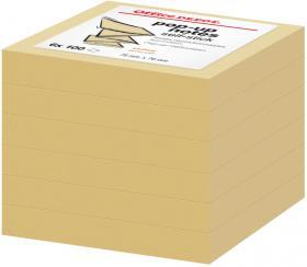 Notes samoprzylepny harmonijkowy Office Depot, 76x76mm, 6x100 karteczek, żółty pastelowy