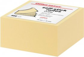 Notes samoprzylepny Office Depot, 76x76mm, 400 karteczek, żółty pastelowy