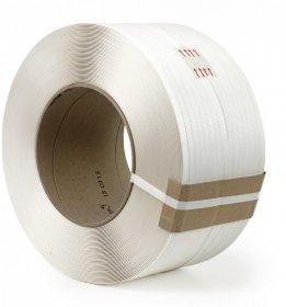 Taśma zaciskowa do paletowania, w rolce, 12x0.80mm, 2000m/rolka, biały