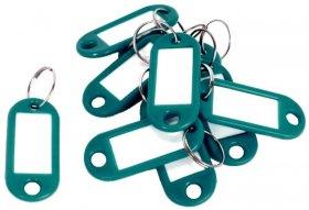 Zawieszki do kluczy D.Rect, plastik, 10 sztuk, zielony