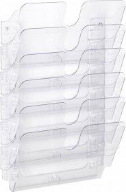 Pojemnik na dokumenty Durable Flexiplus, poziomy, A4, 6 sztuk, przezroczysty
