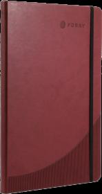 Notatnik w linie Foray, A4, twarda oprawa, 96 kartek w linie burgund