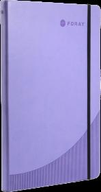 Notatnik w linie Foray, A4, twarda oprawa, 96 kartek w linie purpurowy