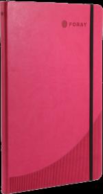 Notatnik w linie Foray, A4, twarda oprawa, 96 kartek, różowy