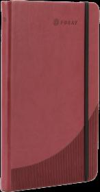 Notatnik w linie Foray, A5, twarda oprawa, 96 kartek, burgund