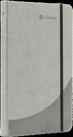 Notatnik w linie Foray, A5, twarda oprawa, 96 kartek, szary