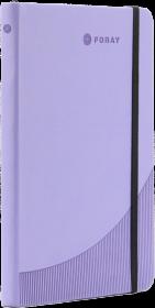 Notatnik w linie Foray, A5, twarda oprawa, 96 kartek, purpurowy