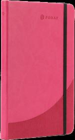 Notatnik w linie Foray, A5, twarda oprawa, 96 kartek, różowy