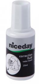 Korektor w płynie Niceday, z gąbką, 20ml