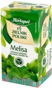 Herbata ziołowa w torebkach Herbapol Zielnik Polski, melisa, 20 sztuk x 2g