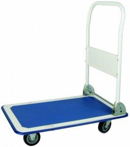 Wózek platformowy Bayersystem, TG-WPL-MINI, 74x48x83cm, niebiesko-biały
