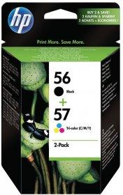 Zestaw tuszy HP Combo Pack nr 56( 19ml) black (czarny) + nr 57(17ml) cyan (błęktiny), magenta (purpurowy), yellow (żółty)
