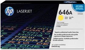 Toner HP 646A (CF032A), 12500 stron, yellow (żółty)