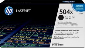 Toner HP 504X (CE250X), 10500 stron, black (czarny)