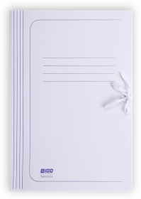 Teczka wiązana BIGO, A4, kartonowa, 280g/m2, 35mm, biały